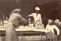 A Refreshment Stall, [Mandalay], in the road leading from the Palace to the East Gate of the City